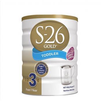 新西兰惠氏S-26金装奶粉 3段 900g(新旧包装随机发送)
