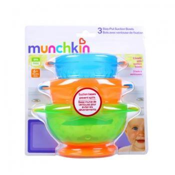 美国 满趣健 Munchkin 吸盘碗 三个装