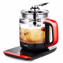 美的(Midea)養生壺1.5L多功能電水壺煮茶煎藥壺加厚玻璃分體式全自動防干燒 深紅 GE1703c